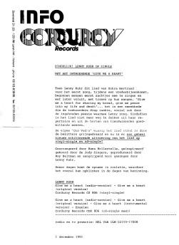 Release-info Corduroy