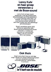 Lenny Kuhr Bose advertentie 1977